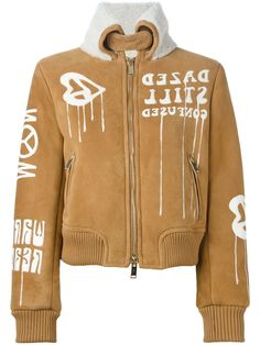 Off-White suede bomber jacket