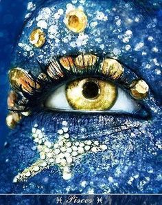 Pisces ☼ is probably one of the most sensitive signs of the zodiac absorbing everything around them like a sponge. ☼ For more astrology visit The Astrology Place Pretty Eyes, Beautiful Eyes, Makeup Art, Eye Makeup, Fish Makeup, Pisces Woman, Pisces Female, Pisces Girl, Look Into My Eyes