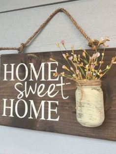 Porch Decor, Home sweet home rustic front door sign decor, Gift, Outdoor signs for house & home, front porch wood sign decoration - Rustic Outdoor Home Sweet Home Wood Signs Front by RedRoanSigns - Diy Home Decor Rustic, Easy Home Decor, Cheap Home Decor, Rustic Wood Crafts, Rustic Outdoor Decor, Wooden Crafts, Wood Signs For Home, Home Signs, Diy Wood Signs