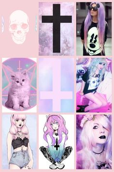 I love the hair of the girl in the middle row, right hand side.   pastel goth @Lara Elliott Elliott Elliott Elliott Elliott Brady Creative