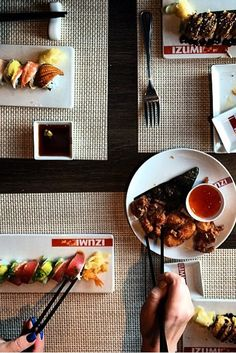 In the mood for sushi? Choose from a menu of a la carte Japanese signature rolls at Izumi, open for lunch and dinner.