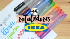 Lettering con Rotuladores IKEA - Tutorial - UGDT