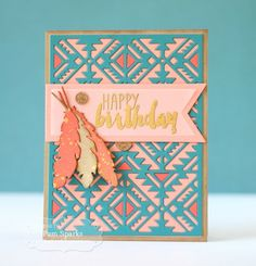 Southwest Cutting Plate Birthday Card by Pam Sparks #Cardmaking, #Birthday…
