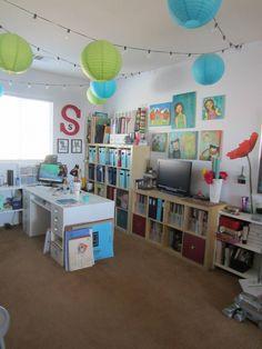 My Studio space Crafty, Layouts, Studio, Space, Ikea Kallax, Projects, Heaven, Home, Craft