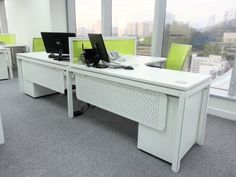 Pair up working space, good for communication for other.