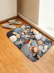 Starfish Conch Pattern Print Floor Mat