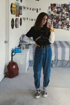 Mode grunge - - Source by Retro Outfits, Vintage Outfits, Mode Outfits, Grunge Outfits, Girl Outfits, Casual Outfits, Fashion Outfits, 80s Style Outfits, Fashion Ideas