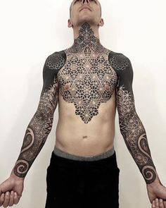 Beautifully Complex Geometric Tattoo Sleeves by Brandon Crone - BlazePress