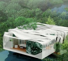 Eco Transformer Architecture - 'Bird Island' Prefab Homes For Waterfronts in Kuala Lumpur (GALLERY)