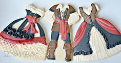 Pirate and wench cookies