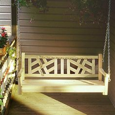 Have to have it. American Tapestry Cedar Porch Swing - $339.99 @hayneedle.com