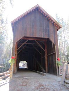 covered bridge at Pioneer Yosemite History Center @ Yosemite National Park California