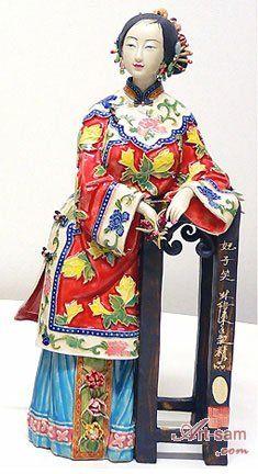 Ancient Chinese Lady - Ceramic Lady Figurine : Art-sam.com