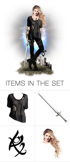 """Lady Midnight by Cassandra Clare - Emma Carstairs"" by lily15 ❤ liked on Polyvore featuring art, doll, shadowhunters and tda"
