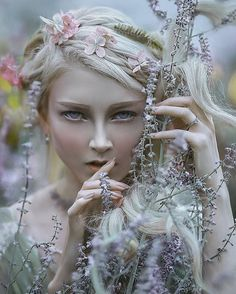 "My another fairytale image with lovely @mariaamanda_official model ""elves secrets"";)) #agnieszkalorek #fineart #fairy #fairytale #fantasy #portrait #elf #elves #blondehair #whitehair #beautiful #flowers #flowersinmyhair #secret #scary #eyes #eyebrows #elfmakeup #elfgirl #love #to #magic"