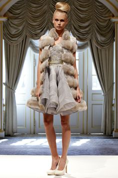denis-basso 2013 nude fur...Nice, interesting look & combinations. Pick 1-3 details that fit your wedding theme. Ask your dressmaker for suggestions.