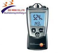 Đặc tính sản phẩm   Testo 608-H2 phát tín hiệu cảnh báo đáng tin cậy khi mà nhiệt độ và độ ẩm vượt quá giới hạn cài đặt, ứng dụng trong các vườn trung tâm, kho hàng, phòng sạch, bảo tàng, phòng thí nghiệm,....   Chỉ tiêu kỹ thuật   Màn hình:LCD, 2 dòng   Nhiệt độ bảo quản:-40 … +70 °C     Nhiệt độ vận hành:-10 … +70 °C
