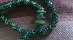 I made... Banded necklace detail