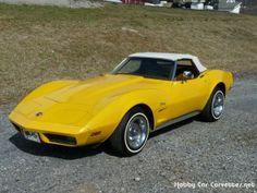 Yellow Corvette, Corvette C3, Chevrolet Corvette, Ford Shelby, Ford Gt, Counting Cars, Corvette Convertible, Old School Cars, Hot Cars