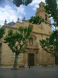 Alicante Aspe - Fachada de la Basílica de Nuestra Señora del Socorro.