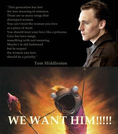 and people wonder why every girl is in love with Tom Hiddleston