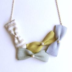 HOMAKO : Cotton Ribbon Bow Necklace