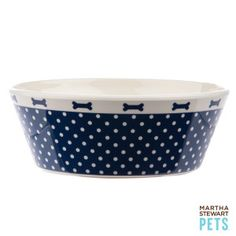 Martha Stewart Pets® Nautical Dog Bowl | Food & Water Bowls | PetSmart, $8.99