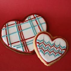 Gingerbread & Sugar Cookies decorated with Royal Icing for Valentine's Day