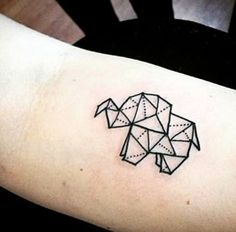 Ideas Tattoo Elephant Origami Geometric Animal For 2019 Origami Tattoo, Origami Elephant Tattoo, Geometric Elephant Tattoo, Elephant Tattoos, Animal Tattoos, Geometric Animal, Simple Elephant Tattoo, Trendy Tattoos, New Tattoos