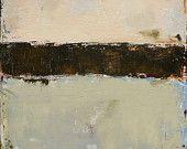 Contemporary Abstract Landscape Painting 20x20 Original Fine Art, West Elm Featured Artist, brown, beige, peach, neutral, sand