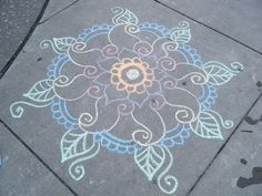 chalk mandala | Flickr - Photo Sharing!