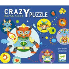 Djeco Barbazules Crazy Puzzle is a box full of interchangable jigsaw pieces, allowing you to create lot of different monsters each time you play. The Puppet Company, Puzzles 3d, Green Toys, Puzzle Toys, 9 Year Olds, Toys Shop, Boutique, Fine Motor Skills, Kids Toys