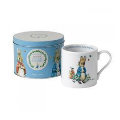 Wedgwood has a long association with Peter Rabbit and Beatrix Potter. The relationship dates back to 1949 when Wedgwood first decorated ceramic items with the iconic Peter Rabbit illustrations, and Wedgwood has been producing Peter Rabbit Nurseryware ever Peter Rabbit Gifts, Beatrix Potter Figurines, Childrens Mugs, Peter Rabbit Nursery, Rabbit Illustration, Cute Coffee Mugs, Dinner Sets, Boutique, Wedgwood