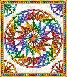 Costa Rica Wheel, Mariner's Wheel Quilt