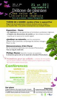 6ème salon de la diversité végétale DELICES DE PLANTES. Du 21 au 22 septembre 2013 à Cesson Sévigné.