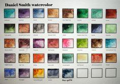 Daniel Smith PrimaTek Watercolors- Library - Page 8 - WetCanvas Winter Watercolor, Diy Painting, Beginning Watercolor, Watercolor Flowers, Watercolor Mixing, Art, Paint Charts, Daniel Smith Art, Color Mixing Chart