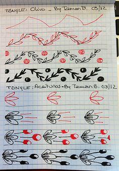 Olivo Tangle Pattern