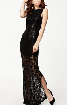 Sleeveless Hollow-out Backless Maxi Party Dress