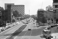 Berlin: Budapester Straße mit Hilton-Hotel (1970) West Berlin, East Germany, Cold War, Dresden, The Past, Street View, Island, City, Image