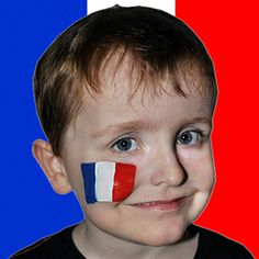 This simple #French flag is great for the #worldcup; show your colours in style! #facepaint #snazaroo