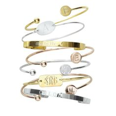 Chiara Bangles - Personalized jewelry is special and easy to wear everyday!