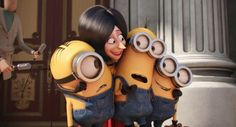 All-star cast: The Minions movie features the vocal talents of Sandra Bullock, who plays super-villain Scarlett Overkill (pictured), John Hamm, Steve Carell and Michael Keaton Minions Images, Minion Movie, Minions Quotes, Minions Minions, Minion 2015, My Minion, Michael Keaton, Steve Carell, Despicable Me