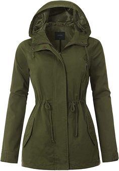 Womens Military Anorak Safari Jacket with Anorak Jacket, Hoodie Jacket, Winter Jackets Women, Coats For Women, Lightweight Rain Jacket, Safari Jacket, Military Jacket, Women's Coats, Casual
