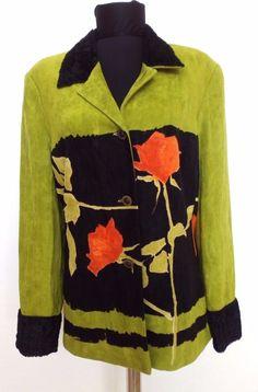Didier Parakian Womens Jacket Coat Colorful Floral Green Size FR 40 US 10 M | eBay