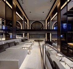 Modern candles restaurant and lounge design on pinterest for Hispano international decor llc
