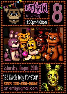 FNAF Carina Lopez Jayden Bday Five Nights At Freddy Birthday Party