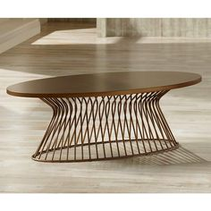 INK + IVY Mercer Golden Bronze Oval Coffee Table - #8J215 | Lamps Plus