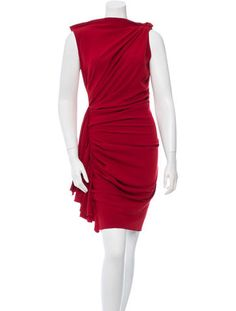 Lanvin Sleeveless Ruched-Accented Dress