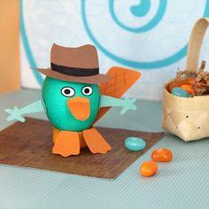 Como hacer un porta huevo de pascua de Perry el ornitorrinco