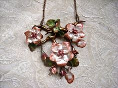 cherry blossom necklace art bead scene challenge